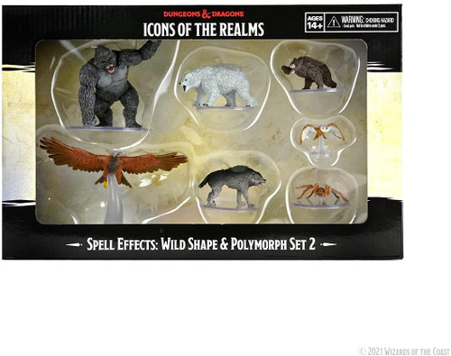 RPG Miniatures: Icons of the Realms - D&D: Wild Shape & Polymorph Set 2