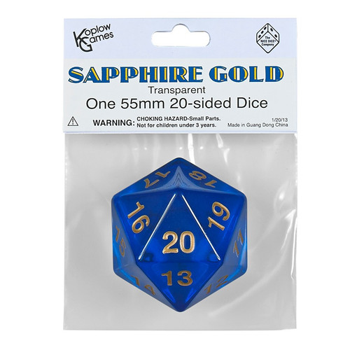Dice and Gaming Accessories Other Gaming Accessories: Sapph Gold Countdown D20 Tr 55mm
