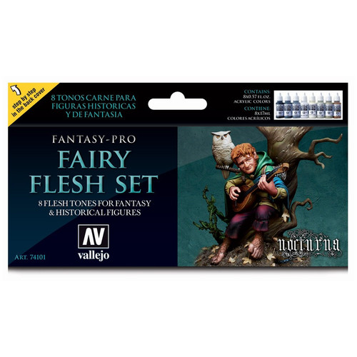Paint: Vallejo - Paint Sets Fantasy Pro: Fairy Flesh Set
