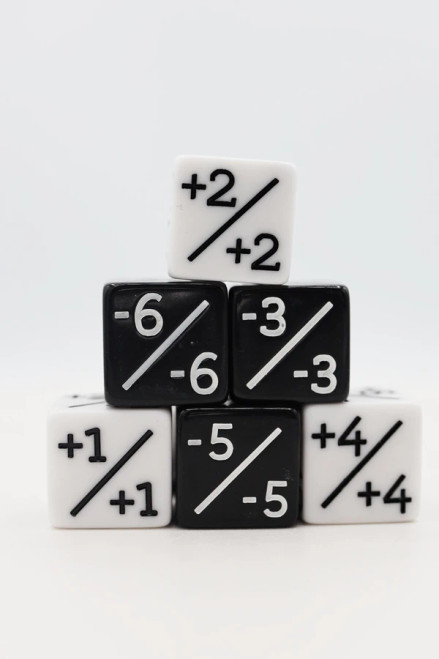 Dice and Gaming Accessories Other Gaming Accessories: Positive/Negative Counters (6)