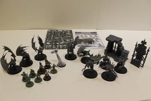 Warhammer AoS Flesh-Eater Courts Lot - Throne, Ghoul King, Ghouls, Horrors [U-B3S5 282696]