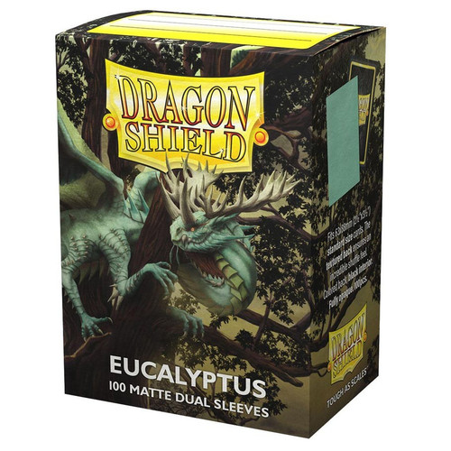 Card Sleeves: Solid Color Sleeves - Dragon Shields: (100) Matte Dual - Eucalyptus