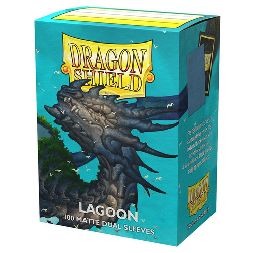 Card Sleeves: Solid Color Sleeves - Dragon Shields: (100) Matte Dual - Lagoon