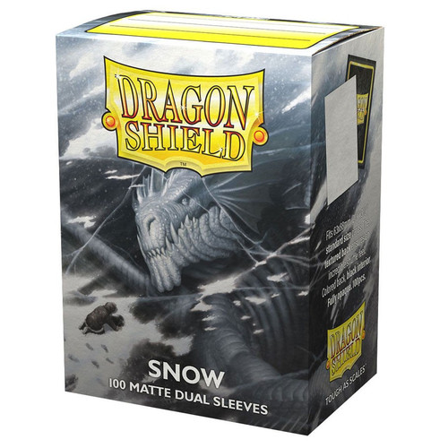 (Preorder) Card Sleeves: Solid Color Sleeves - Dragon Shields: (100) Matte Dual - Snow