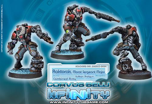 Infinity: Combined Army - Raktorak, Morat Sergeant Major - Vulkan Shotgun