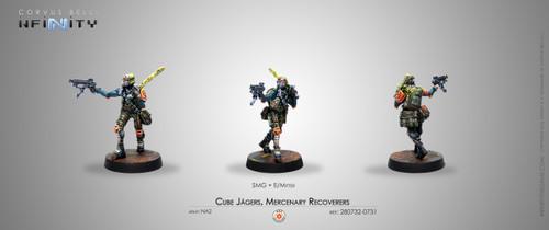 Infinity: Mercenaries - Cube Jagers, Mercenary Recoverers (SMG)