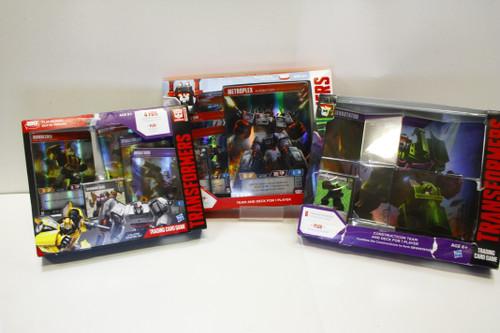 Transformers TCG Sealed Lot - Devastator, Metroplex, Bumblebee v. Megatron Decks [U-B9S3 275679]