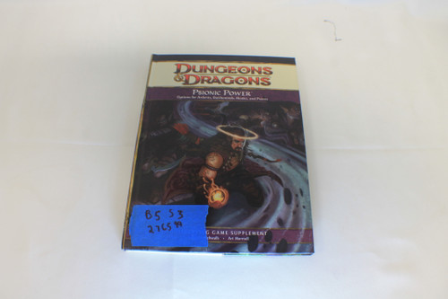 D&D 4th Edition: Psionic Power Hardcover [U-B5S3 276599]