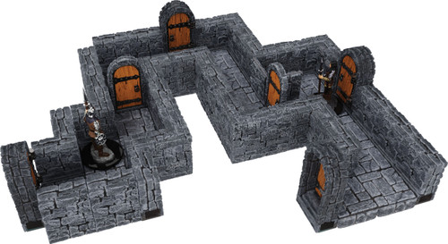 Terrain/Scenery: Warlock Tiles: Expansion Pack - 1 In Dungeon Straight Walls