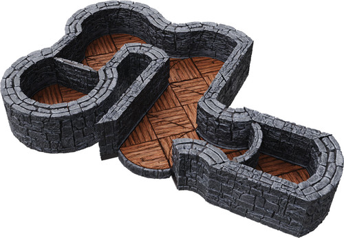 Terrain/Scenery: Warlock Tiles: Expansion Pack - 1 In Dungeon Angles & Curves
