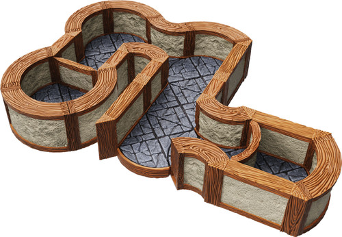 Terrain/Scenery: Warlock Tiles: Expansion Pack - 1 In Town & Village Angles & Curves