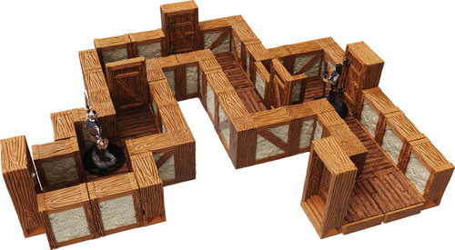 Terrain/Scenery: Warlock Tiles: Expansion Pack - 1 In Town & Village Straight Walls
