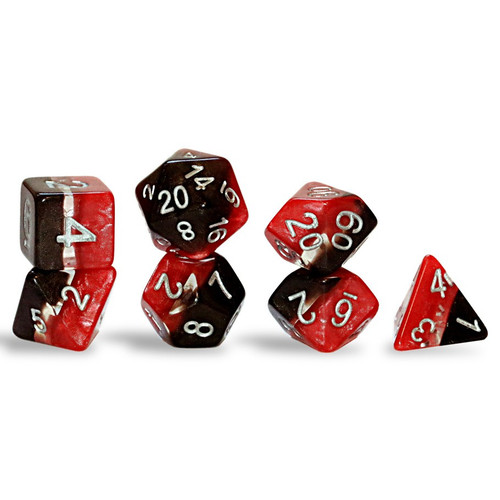 Dice and Gaming Accessories Polyhedral RPG Sets: Red and Orange - Supernova Dice: Magma (7)