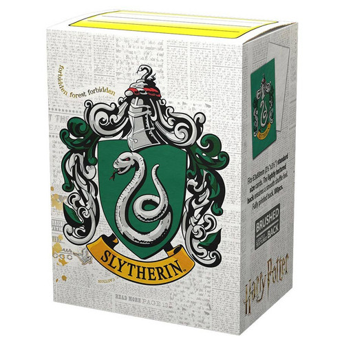 Card Sleeves: Other Printed Sleeves - Dragon Shields: (100) Brushed Art - Harry Potter Wizarding World - Slytherin