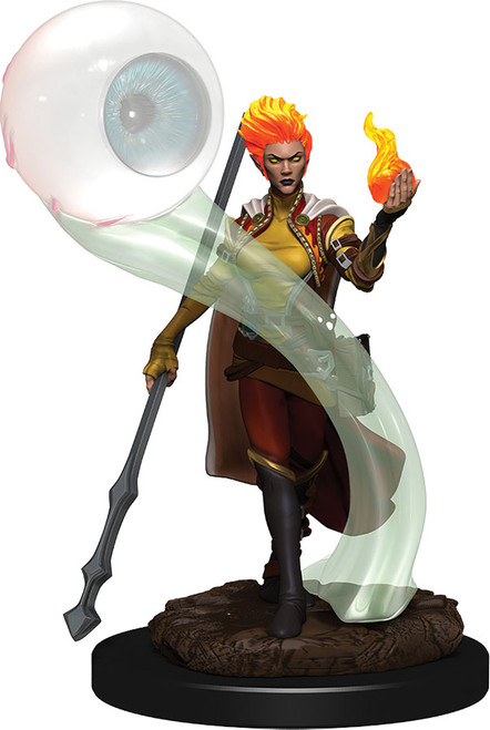 (Preorder) RPG Miniatures: Icons of the Realms - Fire Genasi Wizard Female Premium Figure