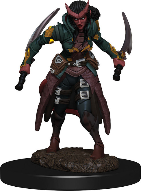 (Preorder) RPG Miniatures: Icons of the Realms - Tiefling Rogue Female Premium Figure
