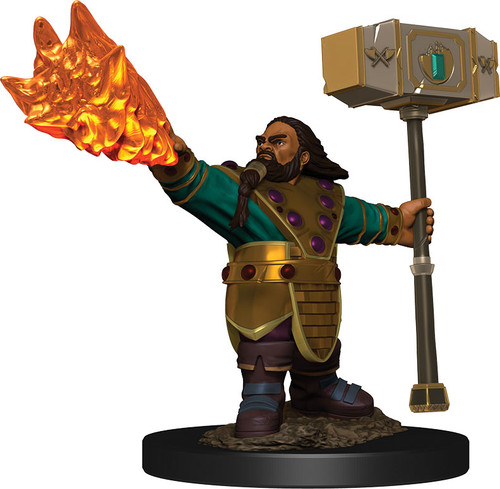 (Preorder) RPG Miniatures: Icons of the Realms - Dwarf Cleric Male Premium Figure
