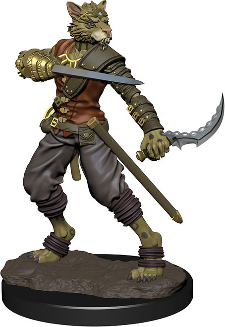 (Preorder) RPG Miniatures: Icons of the Realms - Tabaxi Rogue Male Premium Figure