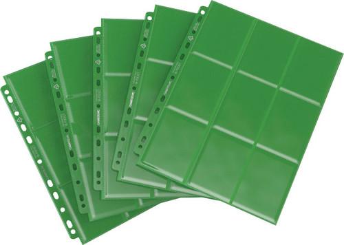 Card Binders: Green Sideloading 18-Pocket Pages (50)