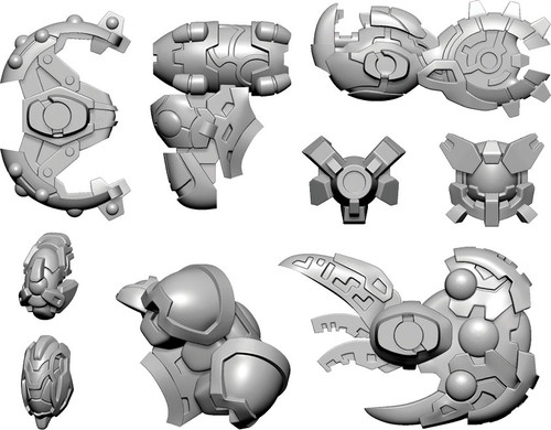 Warcaster: Neo-Mechanika: Empyrean - Sentinel B Weapon Pack