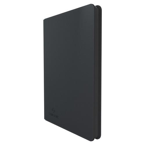 Card Binders: Slim Black Zip-Up Ring-Binder