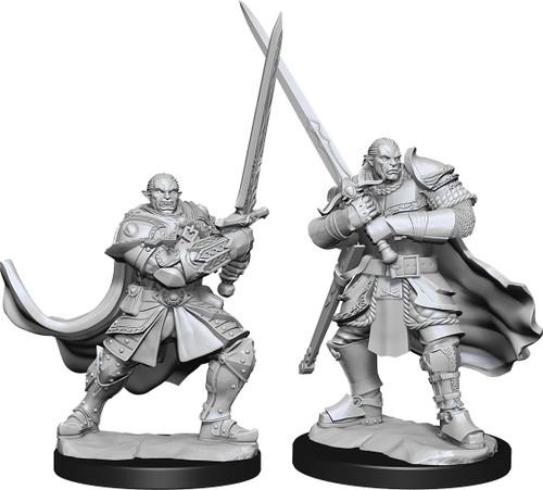 RPG Miniatures: Adventurers - Nolzur's Marvelous Unpainted Minis: Half-Orc Paladin Male
