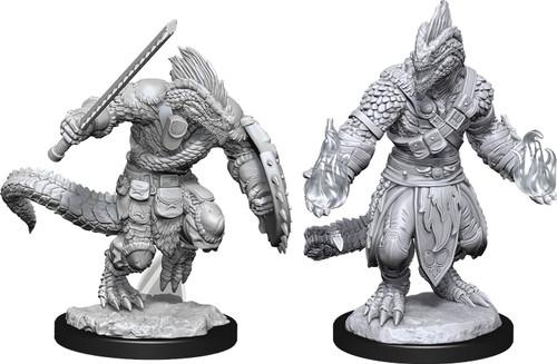 RPG Miniatures: Monsters and Enemies - Nolzur's Marvelous Unpainted Minis: Lizardfolk Barbarian & Lizardfolk Cleric