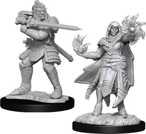 RPG Miniatures: Monsters and Enemies - Nolzur's Marvelous Unpainted Minis: Hobgoblin Fighter Male & Hobgoblin Wizard Female