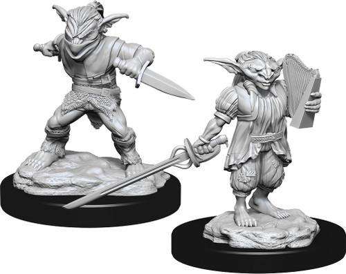 RPG Miniatures: Monsters and Enemies - Nolzur's Marvelous Unpainted Minis: Male Goblin Rogue & Female Goblin Bard