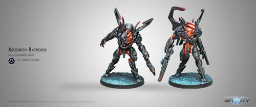 Infinity: Combined Army - Xeodron Batroids