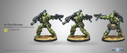 Infinity: Haqqislam - Al Fasid Heavy Assault Regiment - Heavy RL