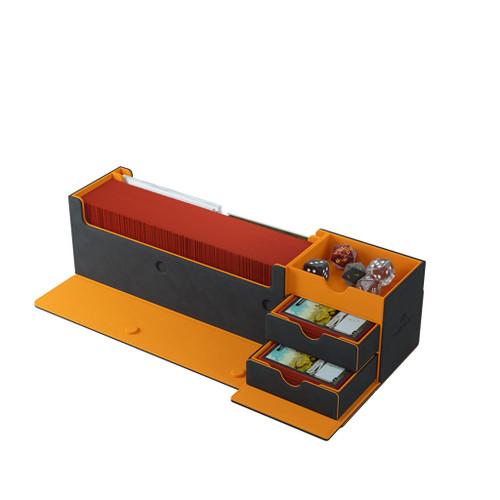 Deck Boxes: Premium Multi Dboxes - Cards' Lair 400+ (Black/Orange)