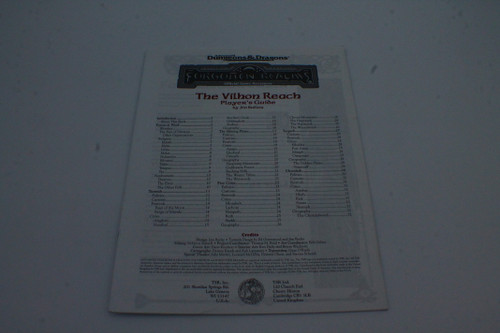 (Secondhand) Dungeons & Dragons: Books - AD&D Forgotten Realms The Vilhon Reach (Player's Guide Only)