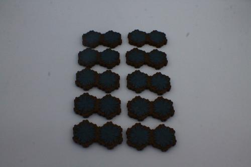 (Secondhand) Heroscape Terrain - 10 Blue 2 Hex Tiles