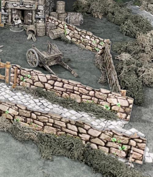 "Terrain/Scenery: Battle Systems: Stone Fencing (48"")"