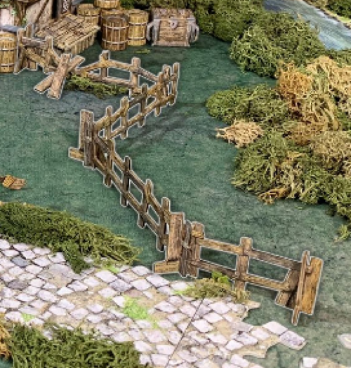 "Terrain/Scenery: Battle Systems: Wooden Fencing (48"")"
