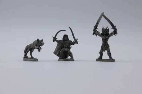 Ral Partha Lot - Drizzt Do'Urden, Wolf, Dragonlord [U-B9S3 290590]