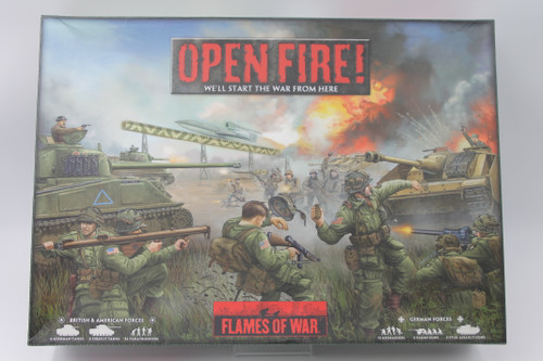 (Secondhand) Bolt Action: Open Fire! Flames of War Starter Set + Rule Book and Expansions