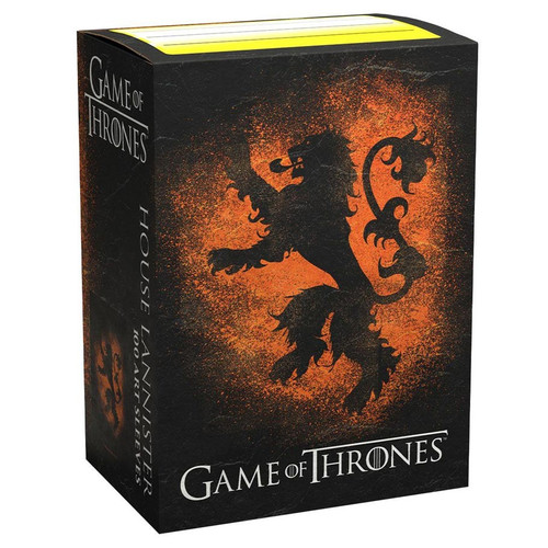 Card Sleeves: Other Printed Sleeves - Dragon Shields: (100) Brushed Art - A Game Of Thrones - House Lannister