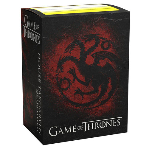 Card Sleeves: Other Printed Sleeves - Dragon Shields: (100) Brushed Art - A Game Of Thrones - House Targaryen
