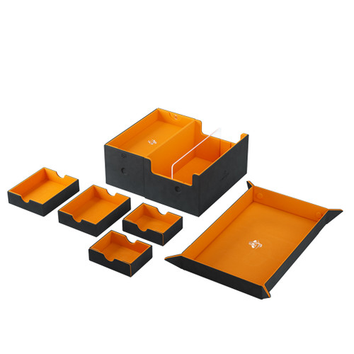 Deck Boxes: Premium Multi Dboxes - Games Lair 600+ Black/Orange