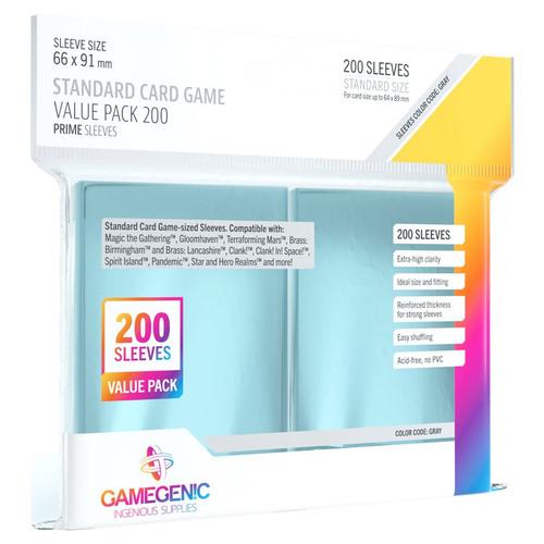 Card Sleeves: Solid Color Sleeves - Prime Board Game Sleeves: Standard Card Game Sleeves 66mm x 91mm (200) (Gray)