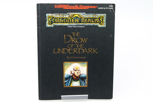 (Secondhand) Dungeons & Dragons: Books - AD&D: The Drow of the Underdark - #9326