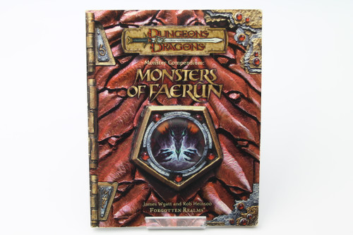 (Secondhand) Dungeons & Dragons: Books - D&D 3rd Edition Monsters of Faerun softcover (good)