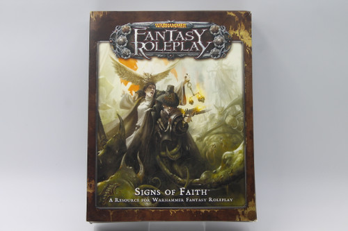 (Secondhand) Miscellanous RPGs: Fantasy Flight Warhammer Fantasy Roleplay Signs of Faith