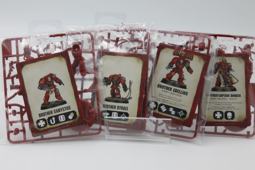 (Secondhand) Warhammer 40K: Blood Angels - WH 40k Space Marine Heroes Lot - Captain Donato, Dyrael, Sanyctus, Ebellius