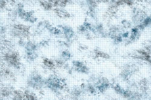 Terrain/Scenery: Tundra - 3x5 Battle Mat with Grid