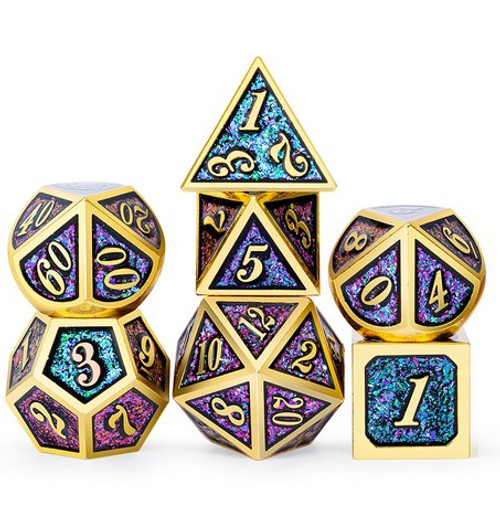 Dice and Gaming Accessories Polyhedral RPG Sets: Metal and Metallic - Carnival - Metal (7)