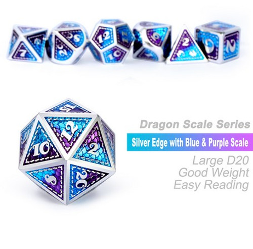 Dice and Gaming Accessories Polyhedral RPG Sets: Metal and Metallic - Dragonfly - Metal (7)