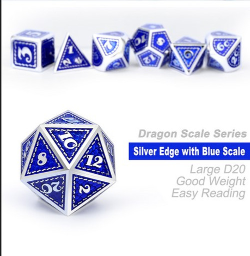 Dice and Gaming Accessories Polyhedral RPG Sets: Metal and Metallic - Lapis - Metal (7)